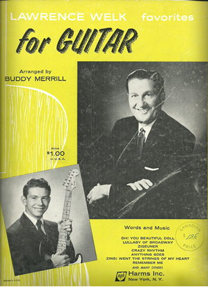 Picture of Lawrence Welk Favorites, arranged for guitar solo by Buddy Merrill