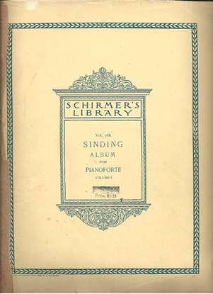Picture of Sinding Album Volume 1, Christian Sinding, 31 Pieces for Piano Solo