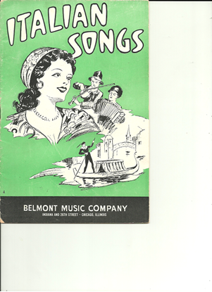 Picture of Italian Songs, Belmont Music Songbook