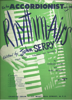 Picture of Rhythm-Airs for the Accordionist Volume 1B, John Serry/ Charles Colin/ Bugs Bower, instuctional songbook