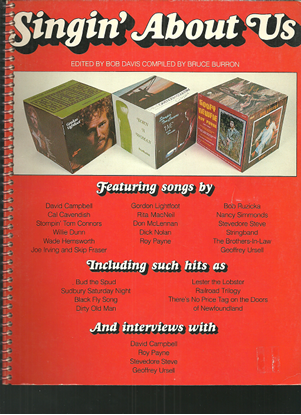 Picture of Singin' About Us, Canadian songbook containing 7 songs by Stompin' Tom Connors