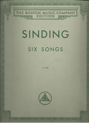 Picture of Christian Sinding, Six Songs