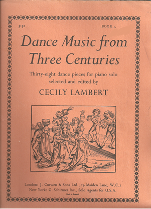 Picture of Dance Music from Three Centuries Book 1, ed. Cecily Lambert