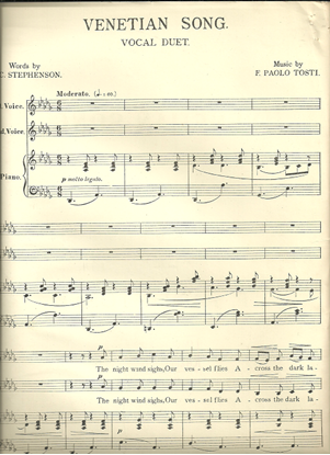 Picture of Venetian Song, F. Paolo Tosti, vocal duet