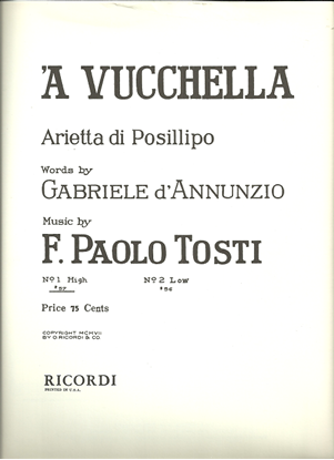 Picture of 'A Vucchella, F. Paolo Tosti, low voice solo