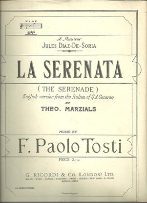 Picture of La Serenata, F. Paolo Tosti, med-high voice solo