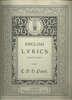 Picture of English Lyrics Fourth Set, C. H. H. Parry, vocal songbook