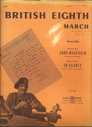 Picture of British Eighth March, Zo Elliott, piano solo