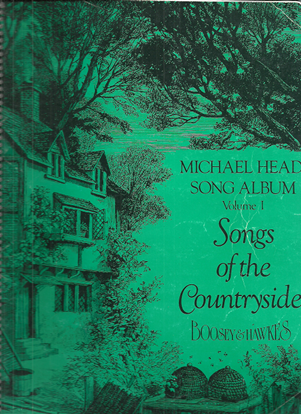Picture of Michael Head Song Album Volume 1, Songs of the Countryside, songbook