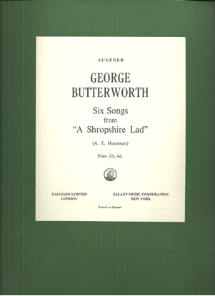 Picture of Six Songs from A Shropshire Lad, George Butterworth, songbook
