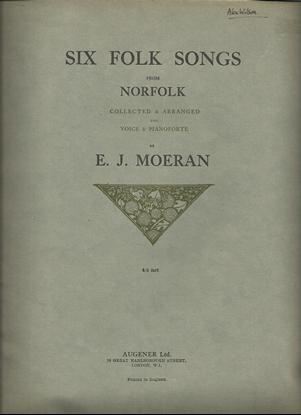 Picture of Six Folk Songs from Norfolk, arr. E. J. Moeran, songbook