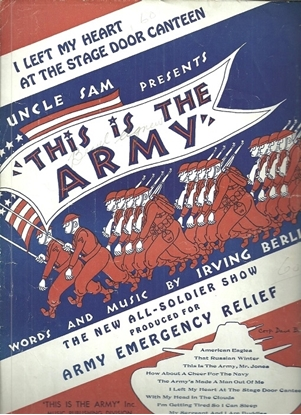 """Picture of I Left My Heart at the Stage Door Canteen, from """"This is the Army"""", Irving Berlin"""