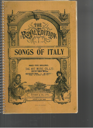 Picture of Songs of Italy, songbook