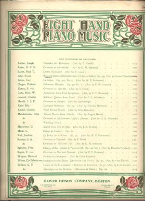Picture of Roguish Kitten, Franz Behr Op. 443, arr. Gustav Blasser for 2 pianos 8 hands
