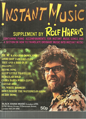 Picture of Instant Music, Rolf Harris, songbook