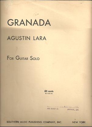Picture of Granada, Fantasia Espanola, Agustin Lara, arr. Vahdah Olcott Rickford, guitar solo