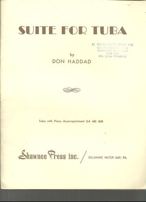 Picture of Suite for Tuba, Don Haddad, tuba solo & piano accompaniment