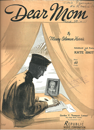 Picture of Dear Mom, Maury Coleman Harris, introduced & featured by Kate Smith