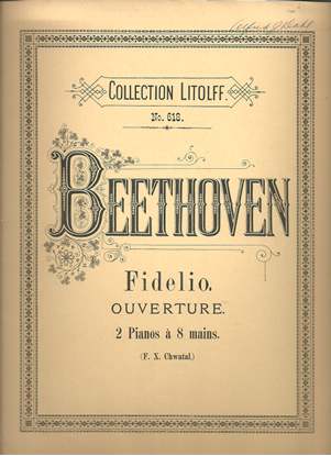 Picture of Fidelio Overture, Beethoven, arr. F. X. Chwatal for 2 piano 8 hands