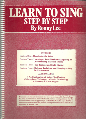 Picture of Learn to Sing Step by Step, Ronny Lee, songbook