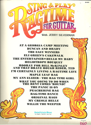 Picture of Sing & Play Ragtime for Guitar, arr. Jerry Silverman, fingerpicking guitar songbook