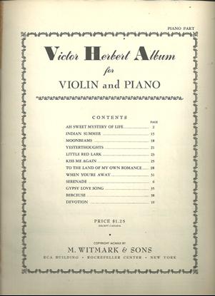 Picture of Victor Herbert Album, violin & piano songbook