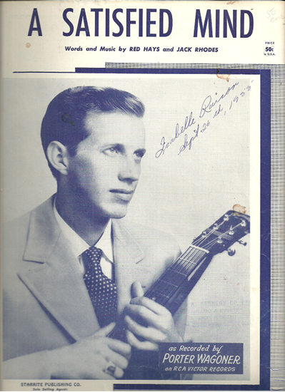 Picture of A Satisfied Mind, Red Hays & Jack Rhodes, recorded by Porter Wagoner