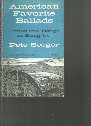 Picture of Pete Seeger, American Favorite Ballads, songbook