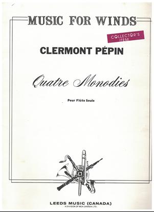 Picture of Quatre Monodies, Clermont Pepin, unaccompanied flute solo