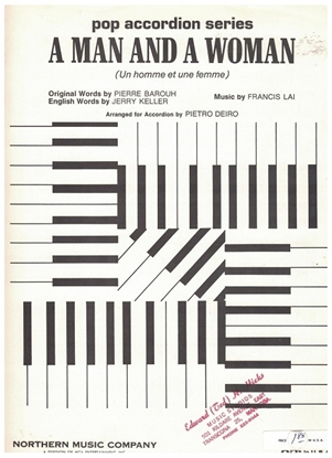 Picture of A Man and a Woman, Francis Lai, arr. Pietro Deiro, accordion solo