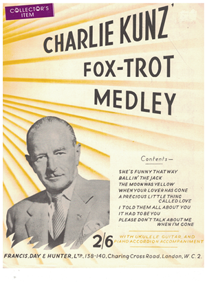 Picture of Charlie Kunz Fox-Trot Medley No. 1, arr. Dudley E. Bayford, piano solo