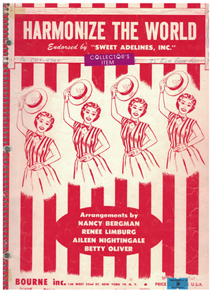Picture of Harmonize the World, Sweet Adelines, songbook