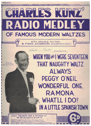Picture of Charlie Kunz Radio Medley of Famous Modern Waltzes, piano solo