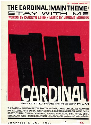 Picture of The Cardinal, movie title song, Carolyn Leigh & Jerome Moross, arr. Pietro Deiro Jr. for accordion solo