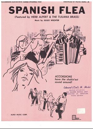 Picture of Spanish Flea, Julius Wechter, recorded by Herb Alpert & the Tijuana Brass, arr. Pietro Deiro Jr. for accordion solo