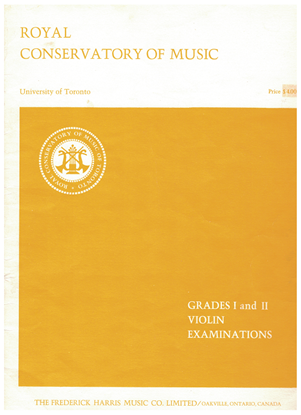 Picture of Violin Grade 1 & 2 Exam Book, 1967 Edition, Royal Conservatory of Music, University of Toronto, violin songbook