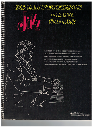 Picture of Oscar Peterson Jazz Piano Solos, rhythm section folio