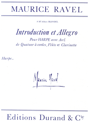 Picture of Introduction and Allegro, Maurice Ravel, septet, harp/ flute/ clarinet/ string quartet