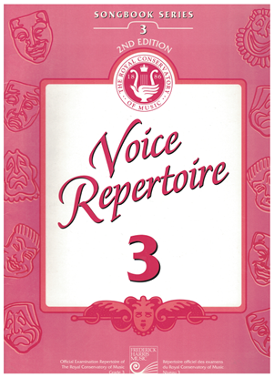 Picture of Voice Repertoire 3, 1998 2nd Edition, Royal Conservatory of Music, University of Toronto