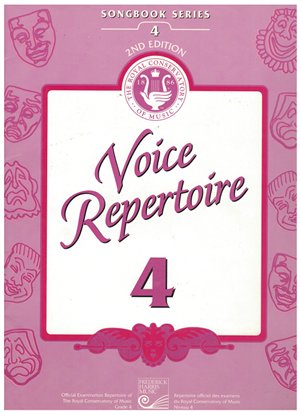 Picture of Voice Repertoire 4, 1998 2nd Edition, Royal Conservatory of Music, University of Toronto
