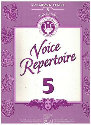 Picture of Voice Repertoire 5, 1998 2nd Edition, Royal Conservatory of Music, University of Toronto