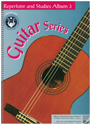 Picture of Guitar Grade 3 Exam Book, Repertoire & Studies, 1997 2nd Edition, Royal Conservatory of Music, University of Toronto