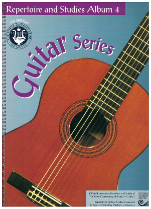 Picture of Guitar Grade 4 Exam Book, Repertoire & Studies, 1997 2nd Edition, Royal Conservatory of Music, University of Toronto