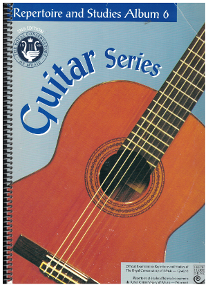 Picture of Guitar Grade 6 Exam Book, Repertoire & Studies, 1997 2nd Edition, Royal Conservatory of Music, University of Toronto