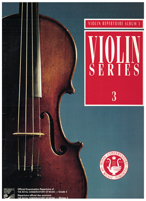 Picture of Violin Grade 3 Exam Book, 1992 Edition, Royal Conservatory of Music, University of Toronto