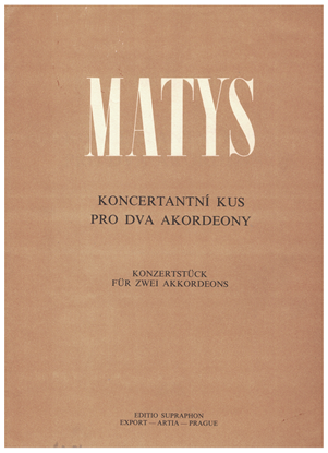 Picture of Concertante for Two Accordions, Jiri Matys, free bass accordion duet