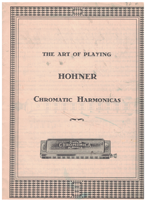 Picture of The Art of Playing Hohner Chromatic Harmonicas, instructional songbook