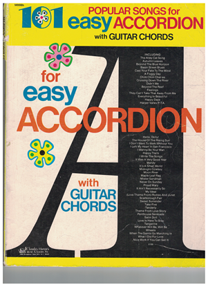 Picture of 101 Popular Songs for Easy Accordion (1976 Edition)