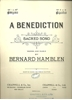 Picture of A Benediction, Bernard Hamblen, high voice in C