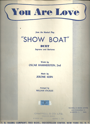 """Picture of You Are Love, from """"Show Boat"""", O. Hammerstein & Jerome Kern, vocal duet"""